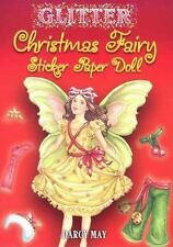 GLITTER CHRISTMAS FAIRY STICKER PAPER DOLL - DARCY MAY (PAPERBACK) NEW