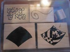 CLOSE TO MY HEART CTMH RUBBER STAMP SET GO FLY KITES S480 USED