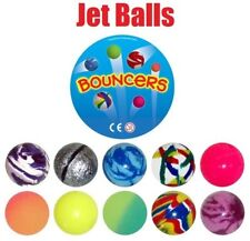30x JET BOUNCY BALL CHILDREN KIDS LOOT GOODY PARTY BAGS PINNATA FILLERS TOY 35mm