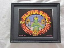 THREE FLOYDS ALPHA KING PALE ALE   BEER SIGN  #285