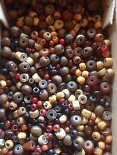 100g pack of assorted small Horn Beads - 3mm to 10mm - approx 400 beads