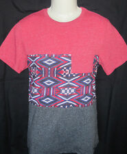 MENS ON THE BYAS GEO TRIBAL POCKET T-SHIRT SIZE XL