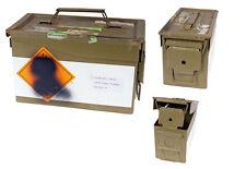Française Boîte de munitions vert tropical utilisé à outils en métal Box