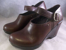 NEW DANSKO WOMEN'S FIFI BUCKLE STRAP ANKLE BOOTS BROWN LEATHER 38 8 MED $180  A