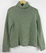 Mariele Waithe Blue Green Knit 100% Cashmere Turtleneck Sweater - Medium M #312