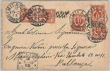 53901 - ITALIA REGNO - Storia Postale: CARTOLINA con affrancatura carina 1903