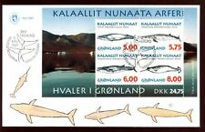 Greenland 1997 Whales M/S FDC #C9038