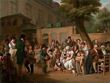 PAINTING BOILLY ENTRANCE TURKISH GARDENS LARGE ART PRINT POSTER LF1531