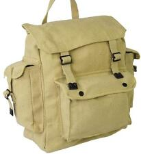 RETRO BACKPACK MILITARY VINTAGE BAG RUCKSACK SATCHEL WEBBING FISHING