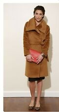 Talbots Plush Tan Italian Alpaca Wool Coat Size 18