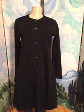 LIZ CLAIBORNE 8 BLACK BUTTON DOWN WOOL BLEND LONG SLEEVE ABOVE KNEE LENGTH DRESS