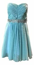 Disney Junior's Size 13 Turquoise Blue Cinderella Collection Strapless Dress