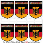 "GERMANY German Deutschland Shield 1.6""/40mm Mobile Phone Mini Stickers-Decals x6"