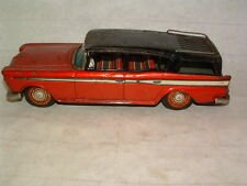 1960's Tin Litho Bandai Rambler Station Wagon Friction Toy Car Automobile