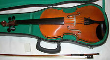 7/8 Czech Stadivari copy nice tone in good playing order & condition case & bow