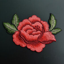 Embroidery Rose Flower Sew On Patch Badge Bag Hat Jeans Jacket Applique Craft