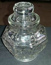Vintage Pressed Glass Candy Sweet Bonbon  Lidded Storage Pot / Jar