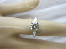 GORGEOUS ESTATE PLATINUM 1.31 CTW FANCY CHAMPAGNE BROWN DIAMOND RING !!!!!!!!