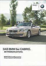 BMW  6er CABRIO F12 Betriebsanleitung 2014  2015 Bedienungsanleitung Handbuch BA