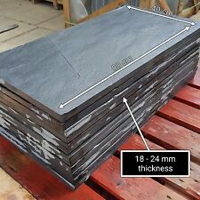 Natural Black Slate Paving Garden Patio Slabs 5m2 80x40cm - FREE SAMPLE