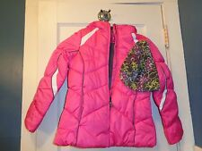 LONDON FOG GIRLS 2 PIECE PUFFER COAT AND HAT SET  7/8 $85