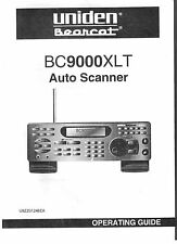 Uniden BC 9000 XLT Bearcat Police Scanner Radio Operating Users Guide Manual