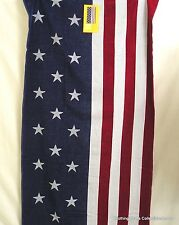 "Americana Beach Towel American Flag Turkish Cotton 34"" x 64"" New"