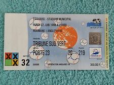 1998 - ORIGINAL WORLD CUP MATCH TICKET - ROMANIA v ENGLAND
