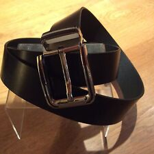 Men's Black Leather Belt, Size 50inch But 1st Hole At 40 Inch, Brand New,
