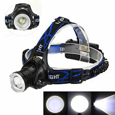 Rechargeable 5000LM CREE XML T6 LED Headlight Headlamp Head Torch Light Zoomable