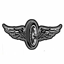Biker Chopper motocicleta Flying Wheel rueda Wings aufbügler Patch Patch grande