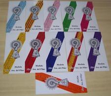 -- LOTE DE 10 CINTAS VIRGEN DEL PILAR. colores a elegir.......
