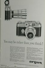 1957 Argus ad, Argus C-44 35mm camera