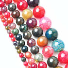 Colorful Wholesale 4/6/8/10/12mm Natural Gemstone Stone Spacer Loose Beads DIY