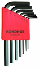 Bondhus 12292 Set of 7 Hex L-wrenches, Short Length, sizes 1.5-6mm