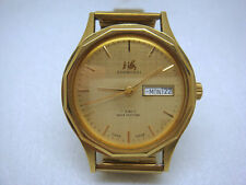 China ShangHai Gold-plated 17J watch 1980's day/date