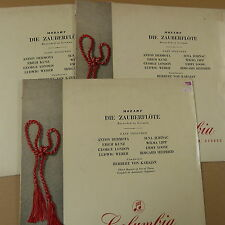 LP MOZART Die Zauberfloete, rec. in German, H. von Karajan, Set of 3 discs