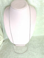 """14K WHITE GOLD 36"""" DIAMOND CUT ROPE CHAIN NECKLACE (M596-6-25)"""