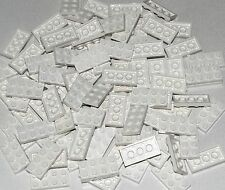 LEGO LOT OF 100 WHITE 2 X 4 PLATES BUILDING BLOCKS PIECES