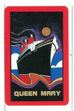 """Single Playing Cards """"Queen Mary, Long Beach, CA""""  Steam Ship, Red Brdr"""