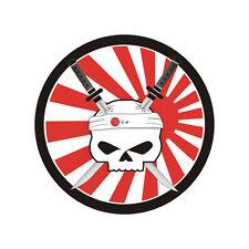 Sticker SKULL KATANA White Japan - Suzuki Kawasaki Honda Yamaha - 8cm x 8cm
