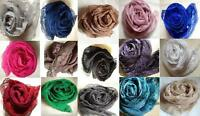 FASHIONABLE PLAIN MAXI SCARF/HIJAB WITH LACE - MANY COLOUR LISTING !! BRAND NEW