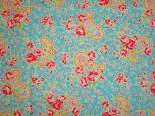 Flower Sugar Lecien Shabby Aqua Rose Paisley Cottage Floral Roses Paisly Chic