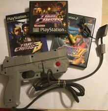 PLAYSTATION NAMCO G-CON BLASTER GUN NPC-103 +3 ( PS2 PS1) TIME CRISIS GAMES PAL