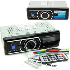 Car Stereo Audio 1 DIN In-Dash FM Aux Input Receiver MMC SD USB MP3 WMA Radio
