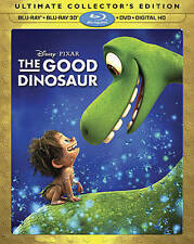 The Good Dinosaur 3D (Blu-ray 3D/Blu-ray/DVD, 2016) w/ Lenticular Slipcover