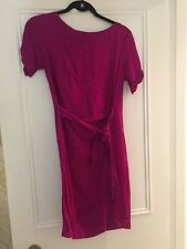 diane von furstenberg Mock wrap dress 10 6 Pink Purple Silk Stretch DVF Genuine