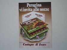 advertising Pubblicità 1972 CASTAGNE DI BOSCO PERUGINA