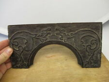 Antique Carved Wooden Arch Ornate Gilt Leaf Design Architectural Salvage Old