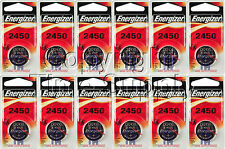12 PC ENERGIZER 2450 Lithium Watch Batteries CR2450 EXPIRE 03-2024